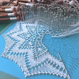 Torchon lace made by Yvette Slabbert. Pattern designed by A Vancraeynest.